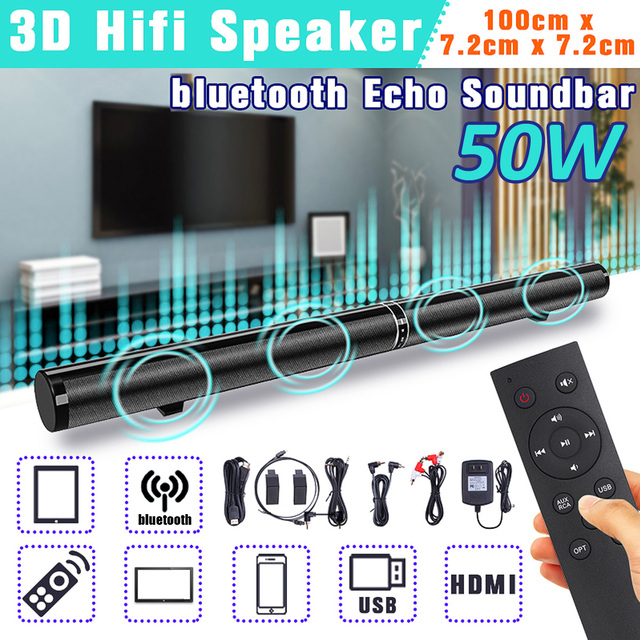 de61aed2b83 Wireless bluetooth Soundbar Stereo Speaker Powerful TV Home Theater Sound  Bar Support AUX optical HDMI ARC