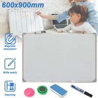 600x900MM Magnetic Whiteboard Writing Board Double Side With Pen Erase Magnets Buttons For Office School