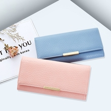 Ladies Long Hand Wallet Fashion Day Simple Solid Color Multi-Card Large Capacity Handbag