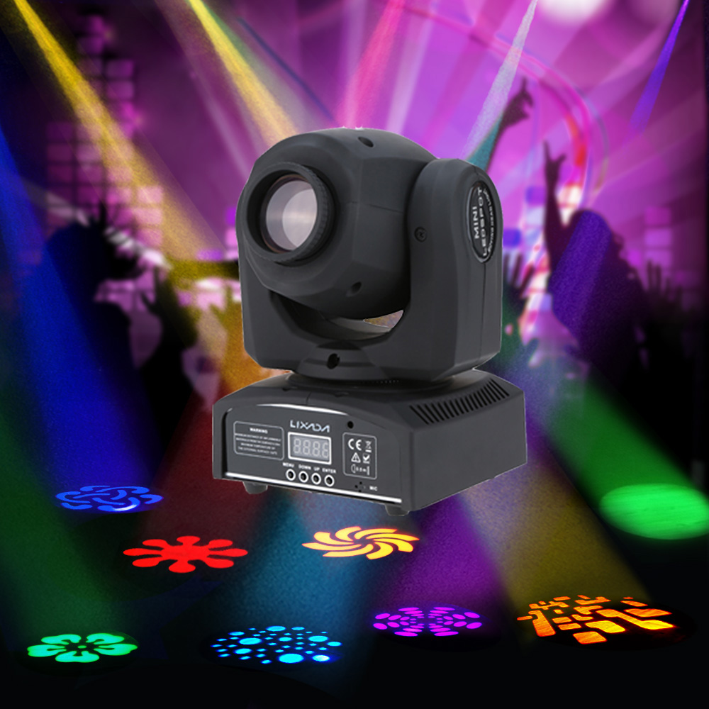 Party Disco Show 9 11 Channel 25W Disco Party Light DMX512 Mini Moving Head Light 8