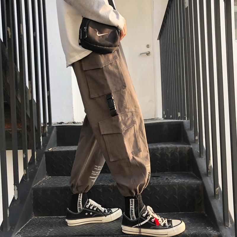 Grande Tridimensional Suelta army Campus Black De 2019 Viento Pantalones Moda Primavera Coreana Hombres Par Los khaki gray Casual Bolsillo Green Tendencia Mono nBH67