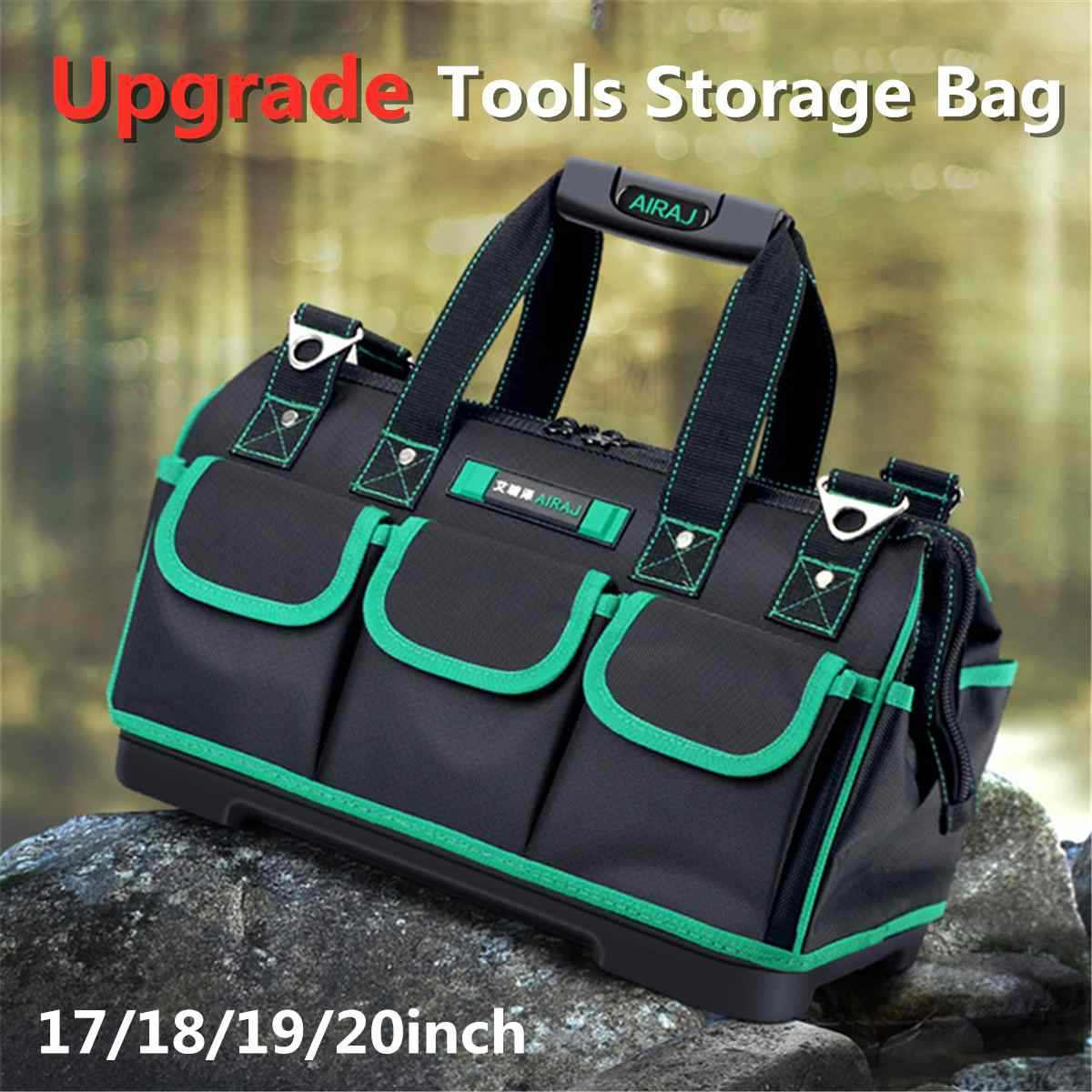 Tool Bag Oxford Cloth Waterproof Tool Bags Electrician Portable Multi Function Work Bag Utility Tool Organizer Storage Bag