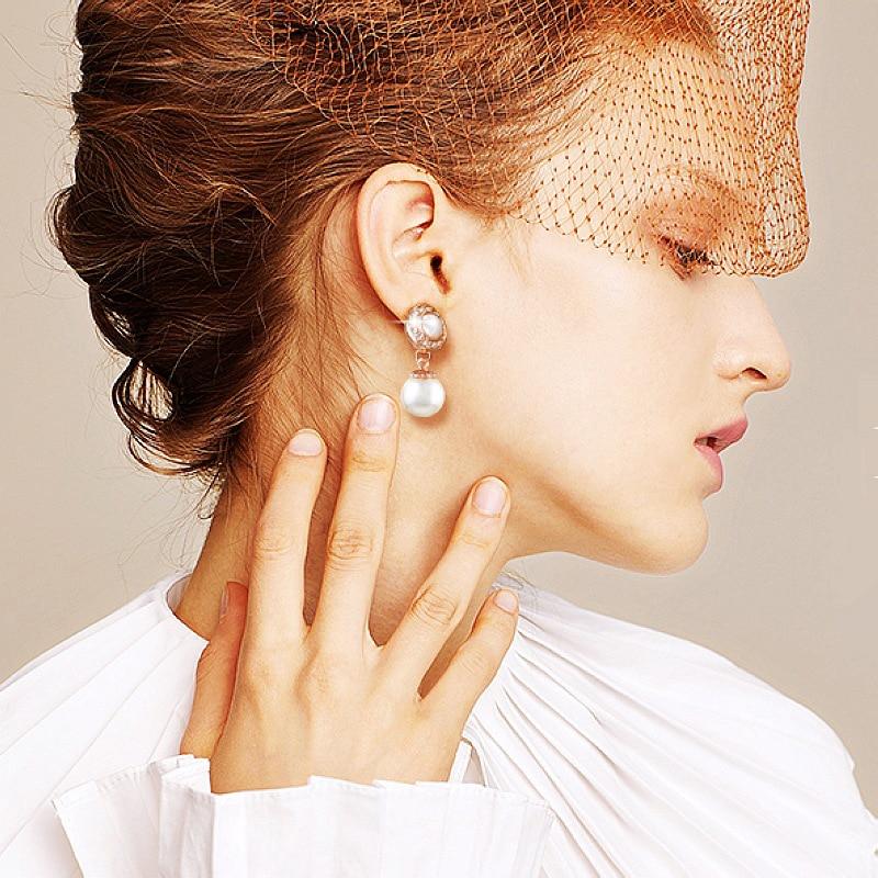 1 Paar Silber Goldene Valentines Geschenk Hohe Qualität Imitation Perle Ohne Piercing Keine Loch Exquisite Hochzeit Einzigartige Ohr Clip