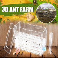 Big Size 3.0mm DIY Moisture With Feeding Area Ant Nest ,Ant Farm Plastic, Insect Ant Nests Villa PET For Underground House Ants