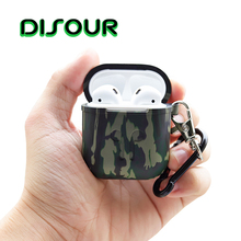 DISOUR For Airpods Case Silicone Protective Cover Shockproof Earpods Case Wirele
