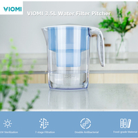 Xiaomi VIOMI VH1 B 3.5L Water Filter Pitcher 7 Stage Ultrafiltration Kettle Plastic Water Filtration Pitcher Small Appliances