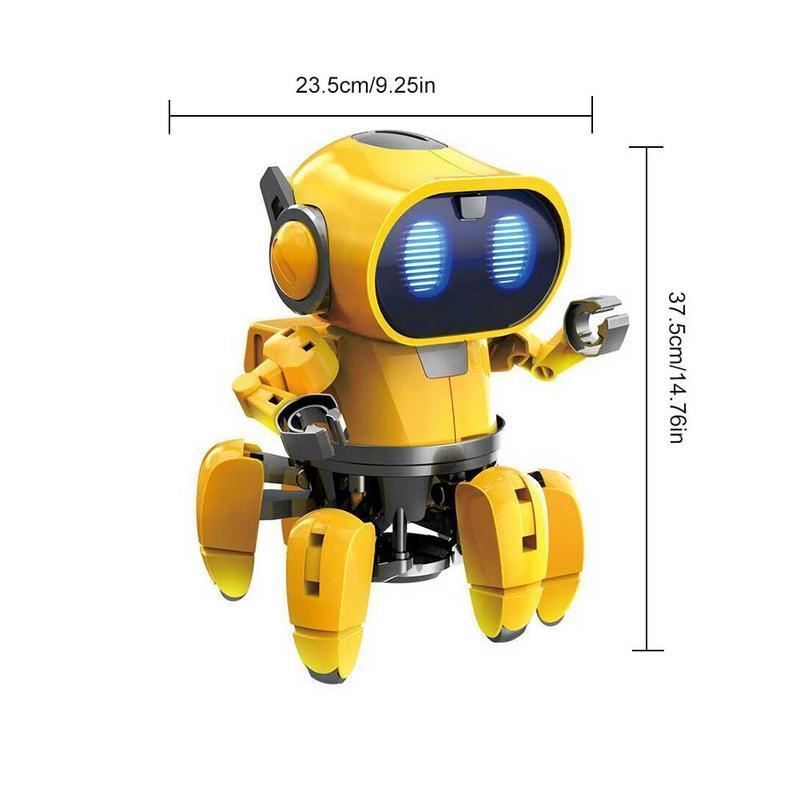 AI Intelligent Robot à monter soi-même enfants bricolage éducation modèle ensemble d'assemblage marche parler jouet Robot enfants interactif jeu Robot - 5