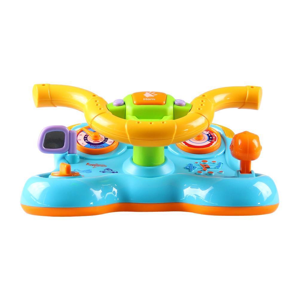 Jouets forme bébé Flash Instruments de direction éducatifs musique secouer enfants jouet pour Musical enfants jeu jouet roue éducatif