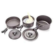 VIM Outdoor 9pcs Outdoor Camping Hiking Cookware Backpacking Cooking Picnic Bowl Pot Pan Dinner Survival Equipment Aluminu цены