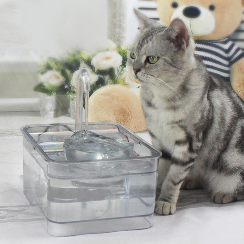 Pet Automatische Wasser Dispenser 2.6l Katze Trinken Brunnen Intelligente Infrarot Induktion Elektrische Wasser Feeder Tiefe Filterung Durchblutung GläTten Und Schmerzen Stoppen