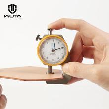 WUTA 0-10 мм/0,1 мм Циферблат Толщиномер кожи измеритель бумаги тестер для полой трубы или круговой трубки суппорт Калибр измерительные инструменты