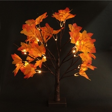 24 LED Maple Tree Shape Lamp Home Party Decor Light  christmas lights outdoor decoration led curtain light Indoor christmas tree shape led night light wall home decor