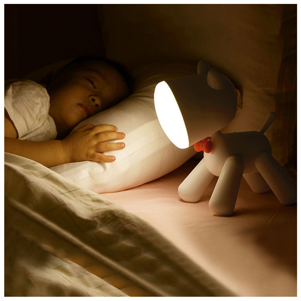 1200mA Rechargeable LED Night Light Dog Sleep Light Table Lamp Puppy Cartoon Baby Children Kids Gift Decoration Home Decor