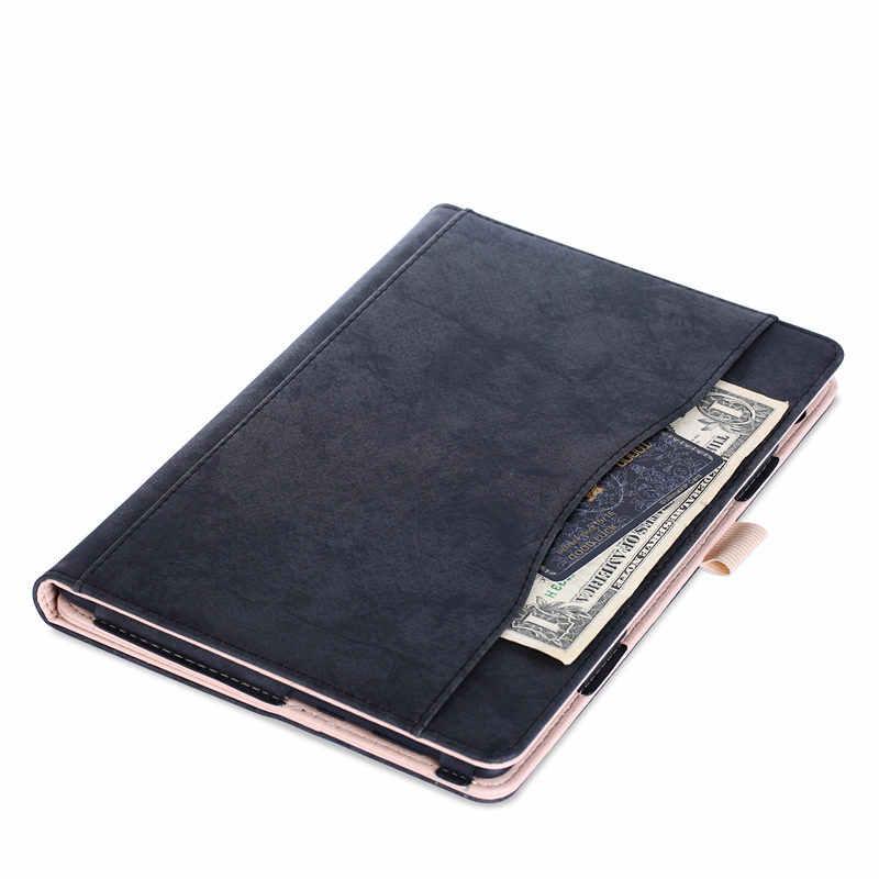 Penutup Kulit PU Stand Case untuk Huawei MediaPad T5 AGS2-L09 AGS2-L03 AGS2-W09 AGS2-W19 10.1 Tablet Case Penutup untuk MediaPad T5 10