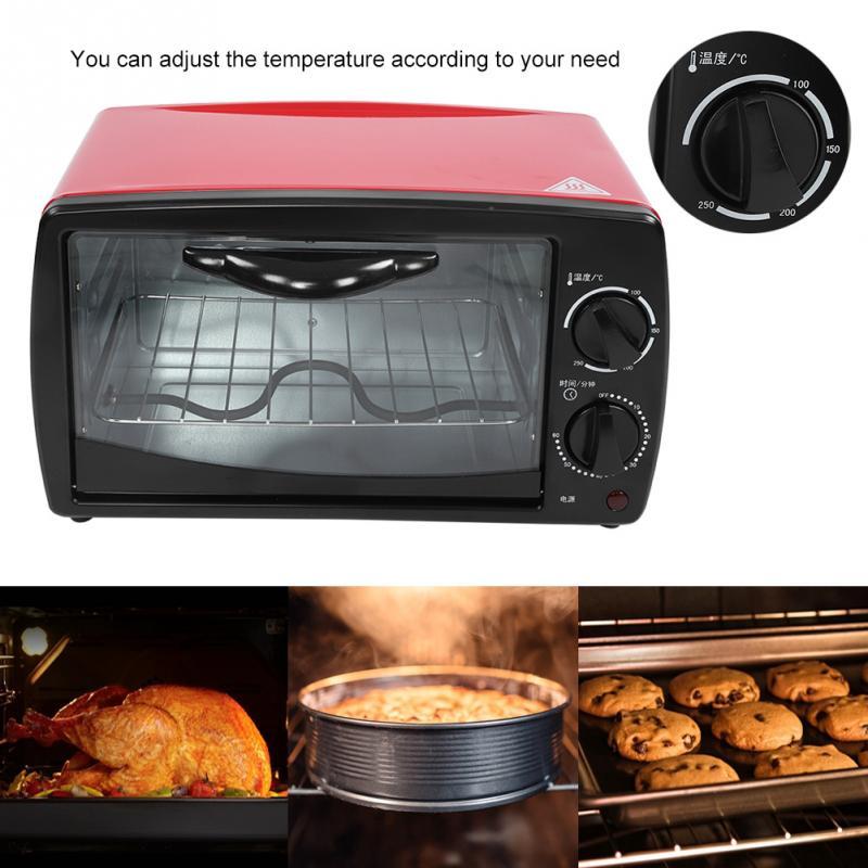 12l Automatische Mini Elektrische Ofen Haushalt Pizza Ofen Fleisch Grill Brot Backen Maschine Küchengeräte Heißer