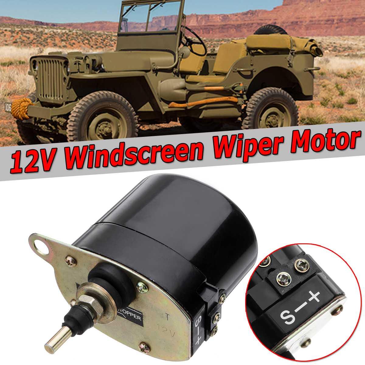 New Universal 12 v Pare-Brise De Voiture D'essuie-Glace Moteur Pour Willys Pour Jeep Tracteur RSM 868 01287358 7731000001 0390506510
