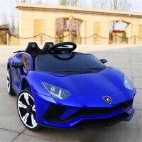 Новый Детский электромобиль колесо качели двойной привод управление Аккумулятор для хранения автомобиля детские игрушки могут сидеть люд