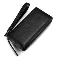 MANBERCE Brand Handbag Men Leather Genuine Business Large Capacity Clutch Bag Brand Men's Purse Cowhide Wallet Free Shipping