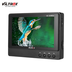 Viltrox DC-55 5.5 Inch Professional Monitor 4K Camera Video Monitor+Peaking Focus F Volume Bar for Canon Nikon Sony DSLR Camera