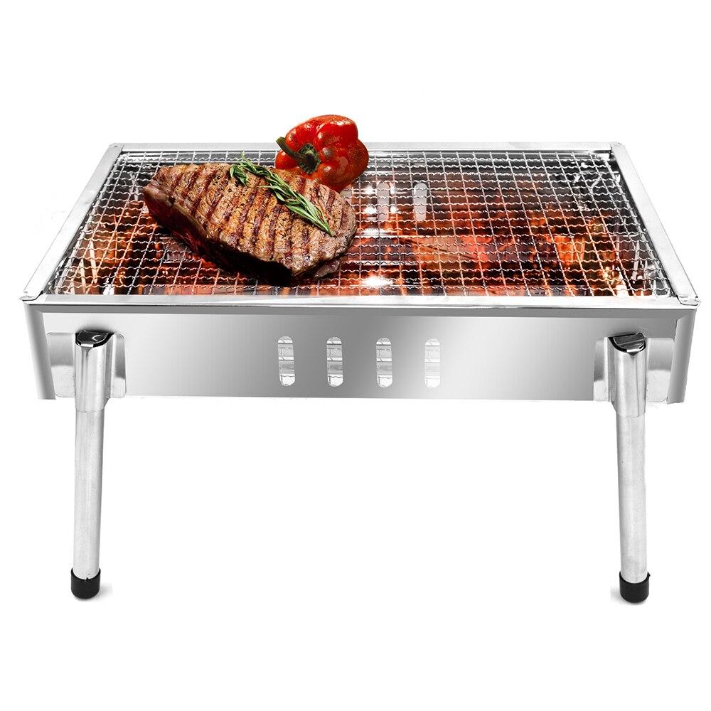 Seashore KL-10 barbecue en acier inoxydable gril extérieur poêle Portable ménage four randonnée Camping partie utiliser Grill