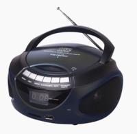 Metronic 477124 Radio CD / MP3 con toma USB, portatil con Bluetooth, negro