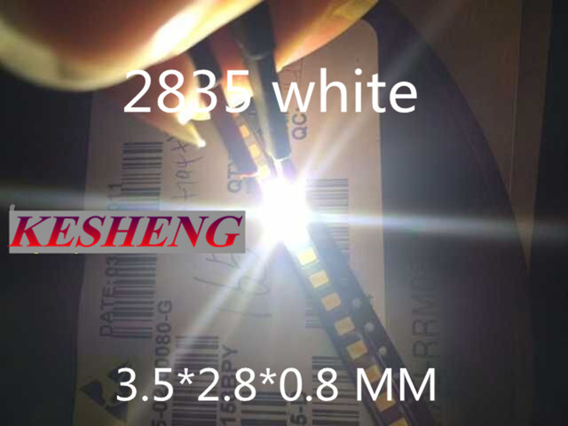 200PCS/lot 0.2W SMD 2835 LED Lamp Bead 21-25lm White SMD LED 3528 Cool white Beads LED Chip DC3.0-3.4V Freeshipping Sale-Seller