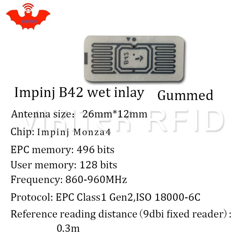 Impinj B42 UHF RFID-Klebefeuchteinlage 500 Stück pro Rolle - Schutz und Sicherheit - Foto 6