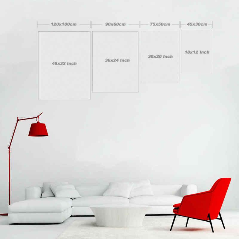 Nordic Modern Dinding Seni Abstrak Lukisan Cat Minyak Realistis Garis Marmer Biru Hitam Kepribadian Dekorasi Rumah Seni Poster