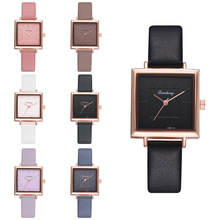 цена на Retro Women Wrist Watches New Square Ladies Bracelet Watches Colorful Leather Crystal Quartz Clock Montre Femme Relogio Feminino
