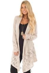 Женская мода кружево лоскутное с длинным рукавом повседневное однотонная одежда классика комфорт элегантность Кардиган Топ плюс размеры