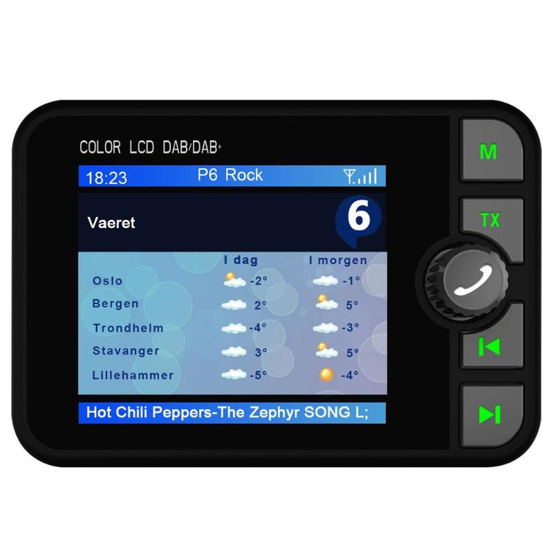 2.4 インチ C6 車 Autoradio DAB ラジオデジタル放送受信機 FM トランスミッタ色 Lcd ディスプレイの Bluetooth ハンズフリー音楽プレーヤー  グループ上の 自動車 &バイク からの 車 ラジオ の中 1
