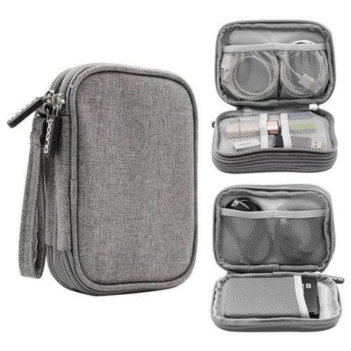 Electronic Accessories Cable USB Organizer Storage Bag Case Drive Travel Holder Storage Bags