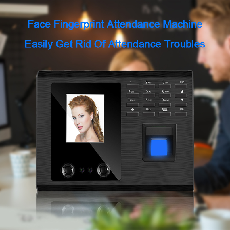 Eseye Biometric Face Recognition Time Attendance System Office Clock Employee Fingerprint Attendance Machine