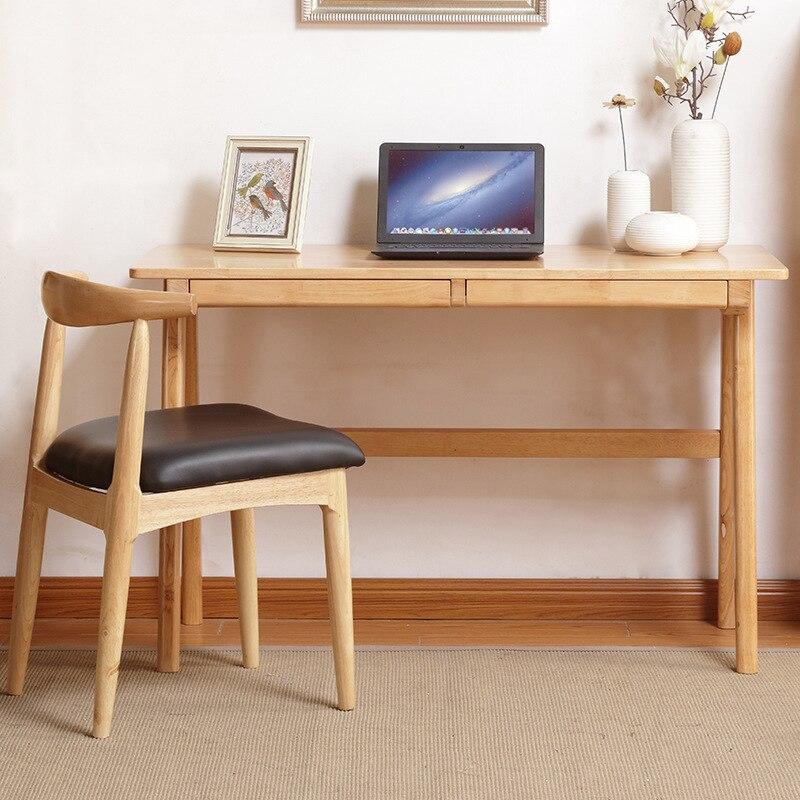 Bureau en bois massif concis Table d'ordinateur de Table de ménage bureau d'étudiant de chambre Table d'étude de bureau moderne d'europe du nord