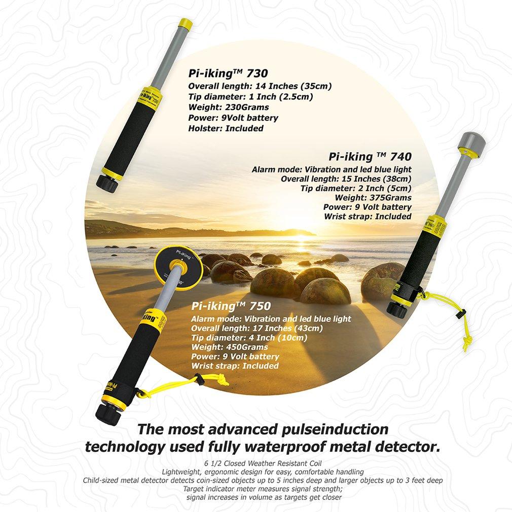 MD 730 luz à prova dwaterproof água underwater detector de metais detector de indução de pulso pinpointer sensível detecção precisa - 4
