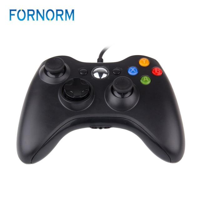 FORNORM Gamepad עבור Xbox 360 Wired בקר Wired ג ויסטיק עבור XBOX360 Gamepad Joypad למחשב בקר עבור Windows 7 8 10
