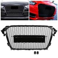 Авто Передние Спорт Шестигранная сетка соты решетка капота черный глянец для Audi A4/S4 B8.5 2013 2014 2015 2016 для RS4 Стиль