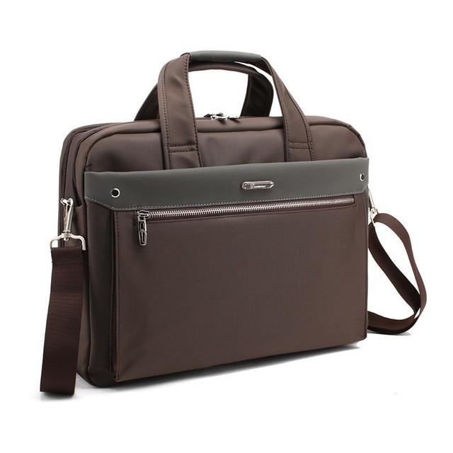 Fashion Large Capacity Men Single Shoulder Office Bags For Business Men's Briefcase Brand 15 16 17 Inch Male Laptop Mens Bag