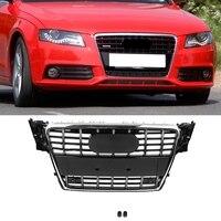 Для S4 Стиль ABS передний бампер сетки решетка капота решетка глянцевый черный Универсальный для Audi A4 S4 2008 2009 2010 2011 2012