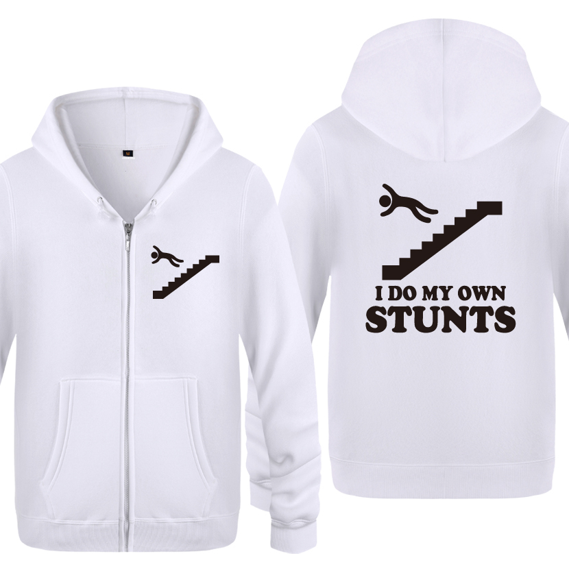I Do My Own Stunts Men's Clothing Stuntman Falling Off Snowboard Hoodies Men 2018 Mens Pullover Fleece Hooded Sweatshirts