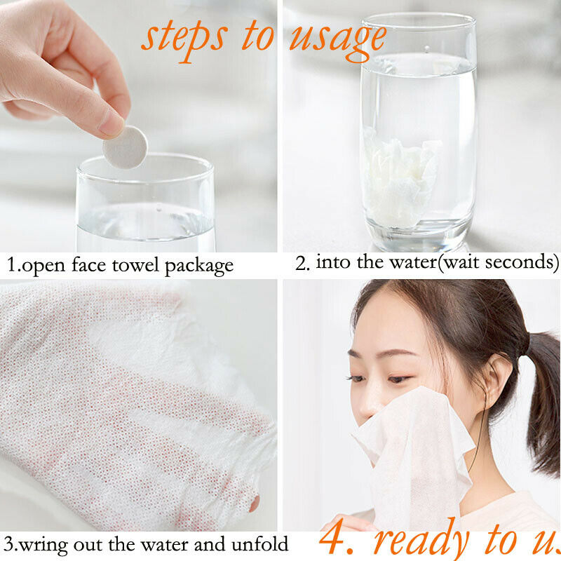 Cotton Portable Travel Non-woven Fabric Disposable Compressed Wash Cloth Towels