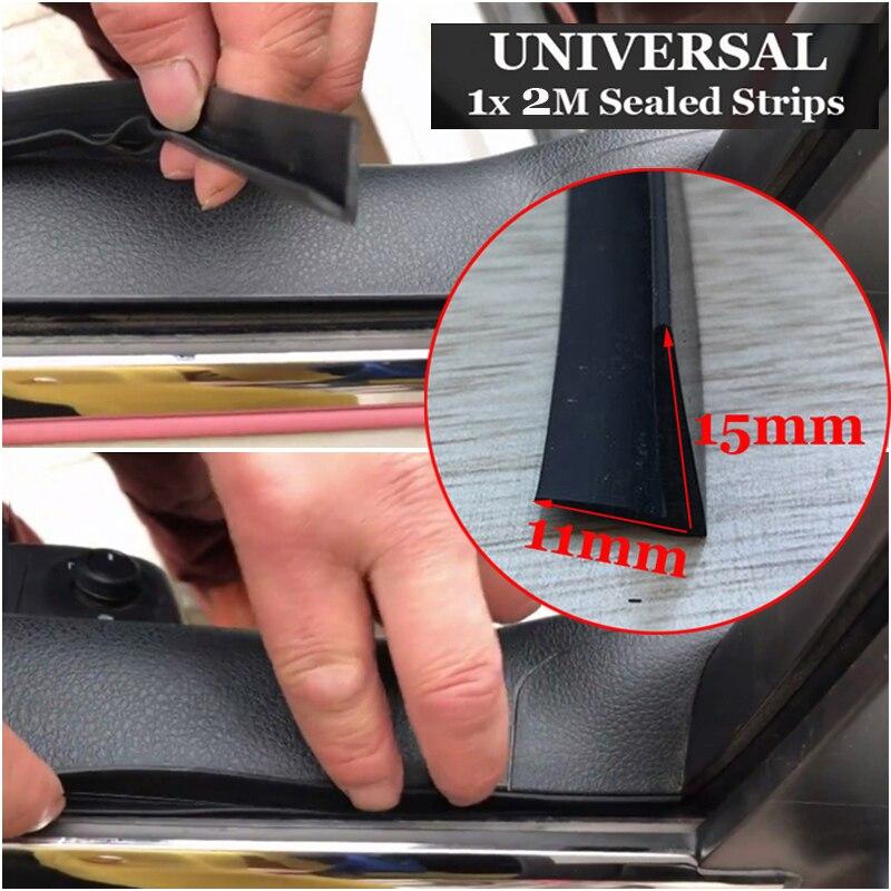 Black 2M Auto Car Door Side Window Trim Edge Rubber Noise Weather Strip Seal