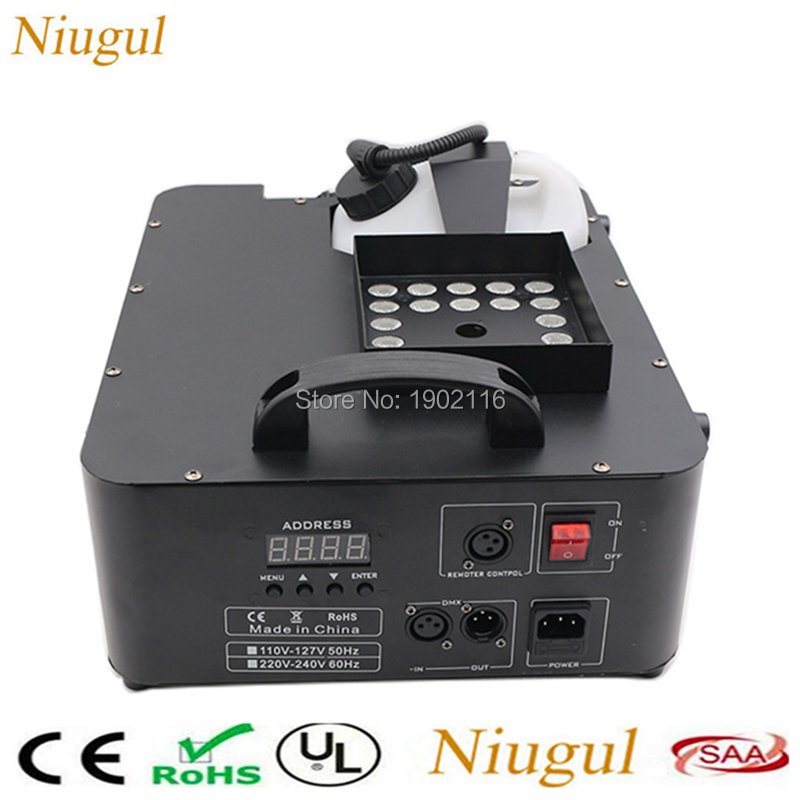 1500W DMX512 Fog Machine 24X9W LED RGB Pyro Vertical Smoke Machine Professional Fogger For Stage Party
