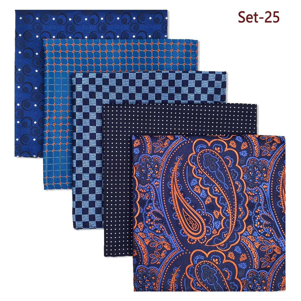 Mens Pocket Square Colorful Lot Brand New Accessories Dress Handkerchief Pack Classic Gift
