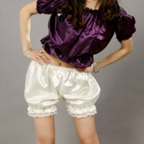 Hirigin Women Elastic Band Bloomers Lace  Ruffles Shorts Underpants Safty Laciness Bottoms