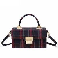 2018 crossbody bags for women leather handbags luxury handbags women bags designer canvas box plaid tote shoulder bag sac a main