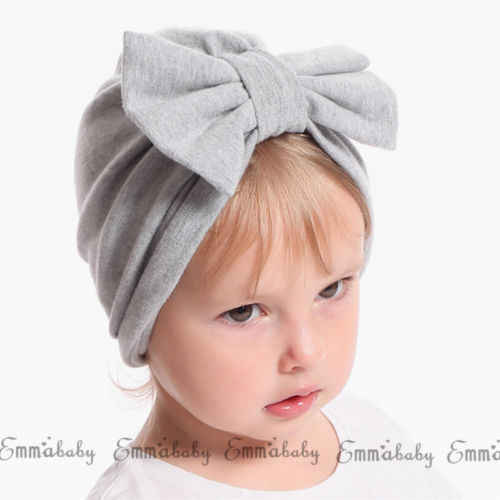 eec7ad6fc Cute Newborn Toddler Kids Baby Boys Girl Cotton Big Bow Turban Beanies Hats  Cap Girls Infant Stretch Winter Warm Skull Beanies