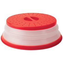 Easy Grip,Collapsible Microwave Cover Plate Colander Strainer for Fruit Vegetables