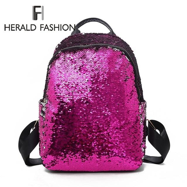 Arauto Moda Feminina BlingBling Lantejoulas Backpack School Bolsas para Adolescentes Meninas Estudante Pequena Mochila Malas de Viagem Das Senhoras Ruckack