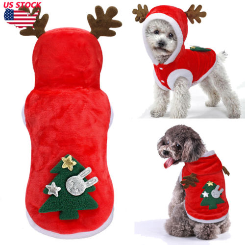 US $2.48 5% OFF|Pet Christmas Sweater Warm Furry Elk Puppy Clothes Xmas Costume for Dogs Cats|Dog Sweaters| AliExpress